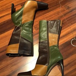 PAZZO LEATHER CALF BOOTS SIZE 8